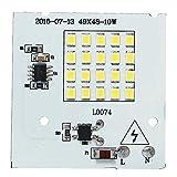 Onger Lebensdauer 10W SMD2835 Outdooors Smart-IC LED-Birnen COB Span-Korn-Flut-Licht-Lampe 220V, Leichtgewichtler (Color : Warm White)