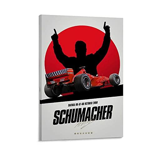 GOUWEI Ferrari F1 2000 Michael Schumacher Poster pintura decorativa lienzo pared sala de estar póster dormitorio...