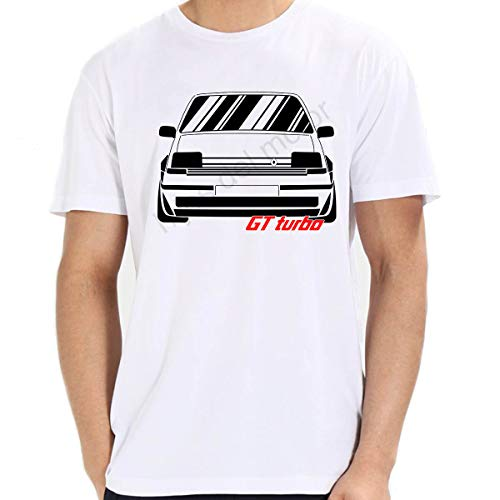 Camiseta Renault 5 GT Turbo (Blanco, M)