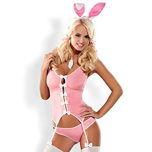 Obsessive - Bunny Anzug Kostüm Pink, Large / X-Large, Pink