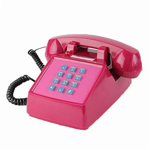 DERTHWER Landline Phones Farmhouse Style Telephone European Antique Retro Landline Desk Telephone,Corded Phone for Home and Decor,Blue Best Gift & Decor (Color : Red, Size : 22x11x13cm)