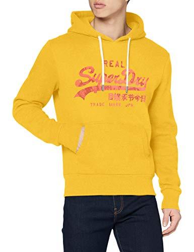 Superdry Mens VL Rising Sun Hood Skateboarding Hoodie, Golden Rod, L