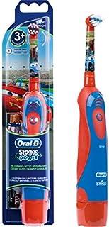 Oral-B - Spazzolino elettrico Stages Power a batteria per bambino, decorato con immagini del film Cars