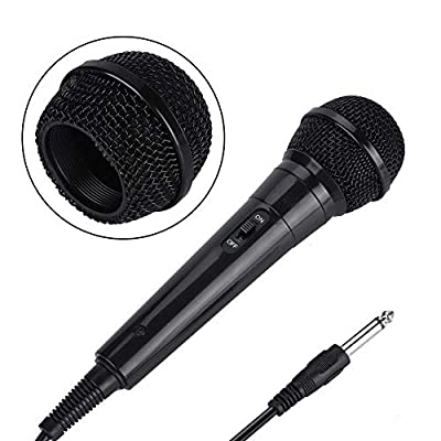 Handheld Professional Wired Dynamic Microphone, Portable Clear Voice Microphone for Karaoke Vocal Music Performance Singing Speech(Black)