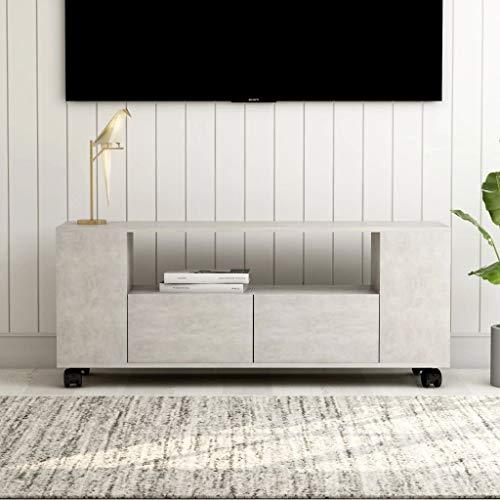 vidaXL Mueble para TV Armario de Televisión Aparador Auxiliar Comedor Salón Sala de Estar Habitación Moderno Aglomerado Gris Hormigón 120x35x43cm