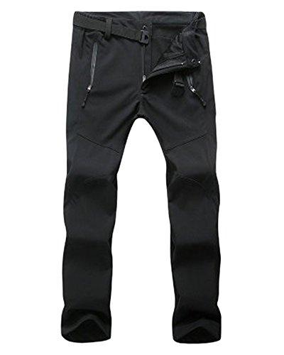 ZongSen Grande Taille Homme Femme Pantalon de Ski Épaississement Coupe-Vent Imperméable Résistant à l'usure Outdoor Camping Randonnée Trekking Pantalons Noir Femmes XL