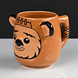 Star Wars SCMG25086 - Taza de cerámica 3D-Ewok, 450 ml