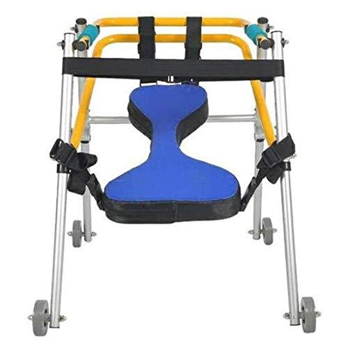 Z-SEAT Andador con Ruedas Plegable Ligero de Cuatro Ruedas con Asiento Acolchado para niños pequeños, niños, Adolescentes con Necesidades Especiales, parálisis Cerebral, durader