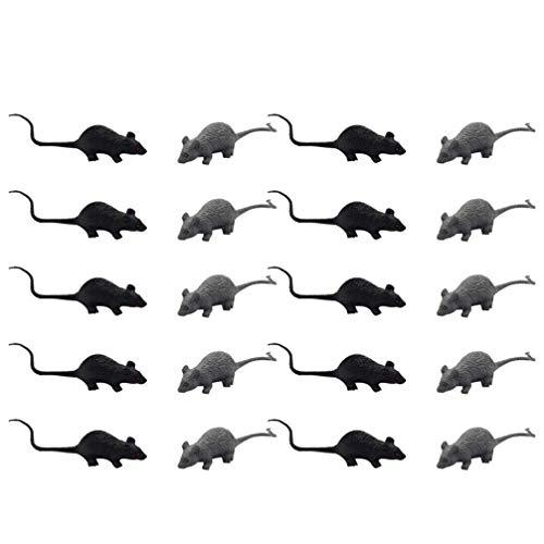 TOYANDONA 20pcs Mouse Finto Realistico Horror Spaventoso Giocattolo Complicato Simulazione Ratto Halloween Scherzo Prop per Cosplay Bar Festa di Halloween