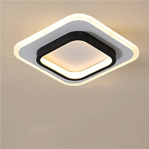 Osairous Plafoniere a LED, Plafoniere quadrate 22W, Plafoniera 3500K per bagno, soggiorno, camera da letto, cucina, corridoio (bianco caldo)
