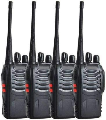 BAOFENG BF-888S Walkie Talkies 16 Channels Long Range VHF/UHF 400-470MHZ Two Way Radio FM Transceiver Set of 4 Piece