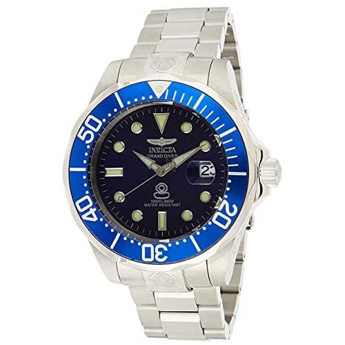 Invicta Grand Diver Orologio Uomo Automatico, 47mm, Blu, 3045
