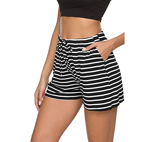 Best Prices! Lounge Shorts for Women - Drawstring Striped Shorts at Home Casual Pajama Shorts Stretc...
