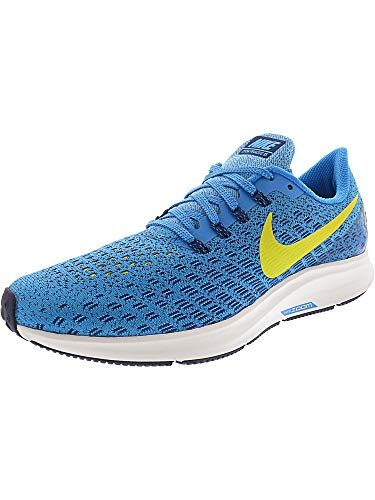 Nike Men's Air Zoom Pegasus 35 Running Shoes (8.5 D US, Blue Orbit/Bright Citron/Blue Void)