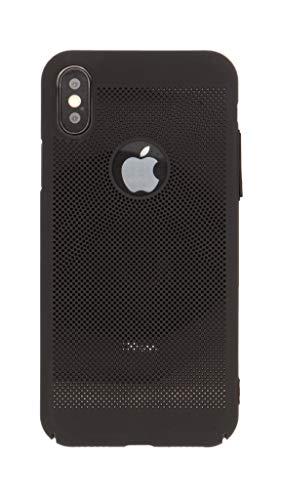 Craftphono atmungsaktives kühlendes Premium Case kompatibel mit iPhone X/Xs schwarz