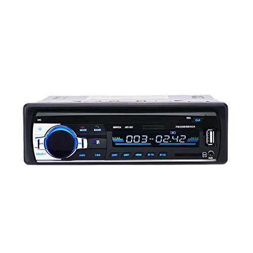 RETYLY 12V Teléfono Estéreo de La Ayuda Audio del Reproductor Mp3 de La Radio de FM del Coche con El Puerto de USB/Mmc Electrónica del Coche Incorporado 1 Dinar