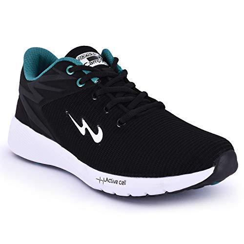 Campus Men's Royce-2 Blk/T.Blu Running Shoes-7 UK/India (40 EU) (CG-248)