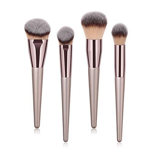 MEIYY Pinceau De Maquillage 4/9 / 10Pcs De Luxe Champagne Or Maquillage Pinceaux Set Reals Fessionnelle Poudre Blusher Blender Brush Fessionnelle Beauté Outils