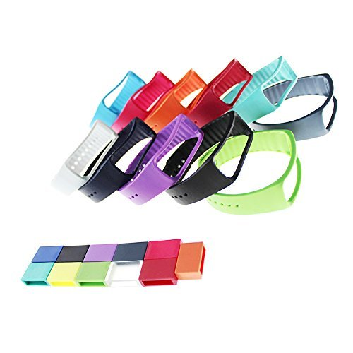 TenCloud Adjustable Replacement Bands Set of 11 with Secure Fastener Rings for Samsung Gear Fit SM-R350