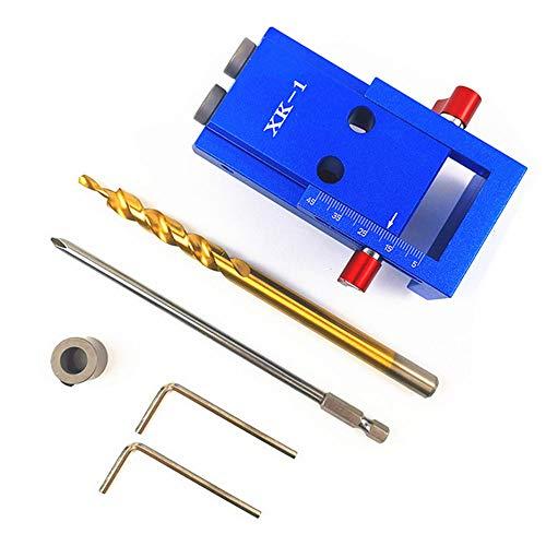 KKmoon Dima per Fori a Tasca 105402 Kit Dima di Foratura per Fori Tascabili con Utensile per Falegnameria per la Lavorazione del Legno