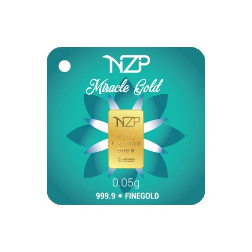 Miracle Gold Nzp Goldbarren 0,05 Gramm, Goldbarren 0,05g, Feingehalt 999,9