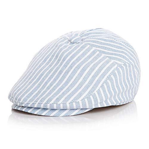 WAZHX Sombreros De Bebé Niños Lindos Rayas Estilo Clásico Gorra De Moda Niño Primavera Verano Boinas Gorras De Béisbol con Pico para Niños Niñas Niños S50Cm6-24Months Blue