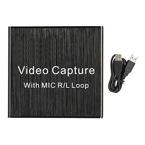 Placa de captura de vídeo, Placa de captura de áudio Dispositivo de captura de vídeo para Youtube para ensino de jogos para videoconferência para transmissão ao vivo