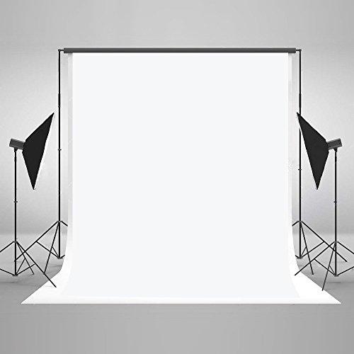 KateHome PHOTOSTUDIOS 1,5 × 2,2m Toile de Fond Blanc Fond Photographie Couleur Unie Portrait Studio Photo