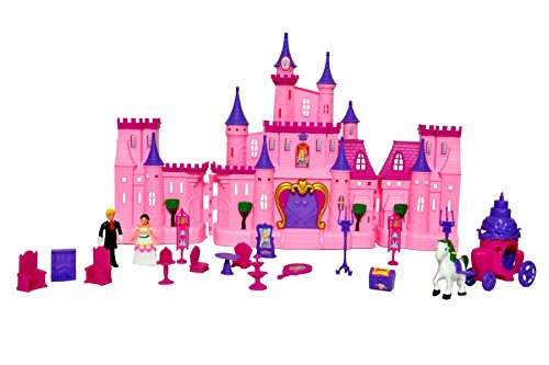 Toyshine Big Size Castle Doll House with Accessories Music
