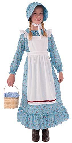 Forum Novelties Girl's Pioneer Costume Dress, Blue, Large