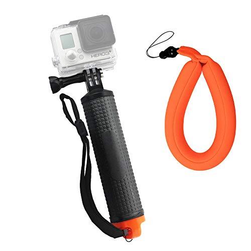Harwerrel Impugnatura galleggiante Impermeabile Floating Hand Grip per GoPro Hero 7 6 5 4 Session 3+ 3 2 1 Telecamere Sportive con Cinturino Galleggiante