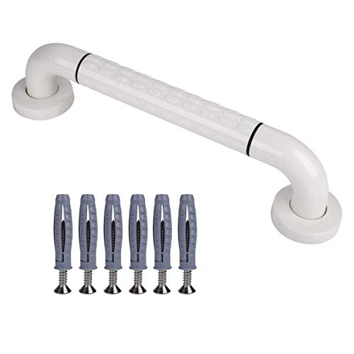 Bathroom Grab Bar, Shower & Bathtub Handle Safety Rail Wall Grab Bar Balance Assist Grip Bars for Toilet and Skid Resistant Bathroom Bar for Tub, Handicap, Elderly, Injury, Kid, Senior - 15.7 Inch