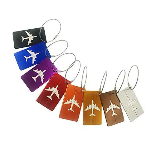 アルミ合金ネームタグ 荷物タグ 旅行タグ ネームホルダー 番号札 装飾品 タグ - カラフル (航空機)