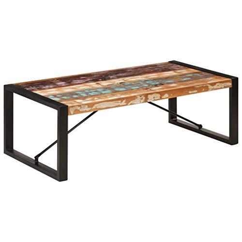 Tidyard Tavolino da Salotto Vintage in Massello Recupero,Tavolino da caffè Vintage in Legno,Tavolino Divano,Tavolino Vintage,Tavolino Industriale,Tavolo da Salotto 120x60x40 cm
