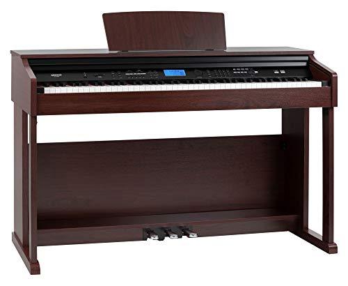 FunKey DP-2688A BM Digitalpiano - 88 anschlagsdynamische Tasten - Hammermechanik - 128-fach polyphon - 360 Sounds - 160 Styles - versenkbare Tastaturabdeckung - MP3-Player - 3 Pedale - braun matt