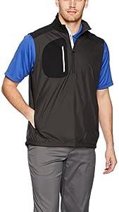 Zero Restriction Mens Bolt Quarter Zip Water Repellent Wind Vest
