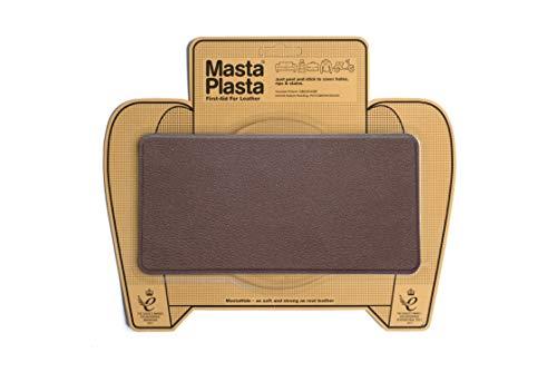 MastaPlasta Patch Marron Autocollant pour la Réparation des Cuirs. Choisissez la Taille. Premiers Secours pour canapés, sièges de Voiture, Sacs à Main, Vestes, etc.