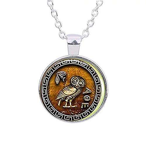 qws Athena's Owl Necklace - Bible Quote- Religious Jewelry Necklace