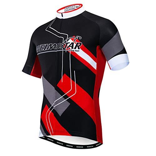 """weimostar Camiseta de ciclismo para hombre,Camiseta de ciclismo de verano para hombres,Transpirable Anti sudor de secado rápido Ropa de bicicleta Talla S-3XL, Hombre, 13, For Chest 40.1-42.5""""=Tag L"""