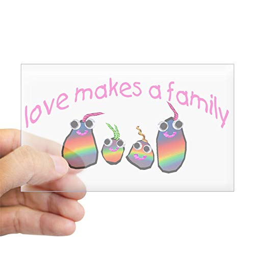 CafePress Love Makes A Family Rectangle Sticker Rectangle Bumper Sticker Car Decal