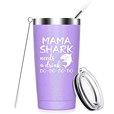 Mama Shark Needs a Drink - Gifts for Mom - Funny Birthday Gifts for Mom from Daughter, Son - Mom gifts for Christmas, Mother's Day, New Mon, Mommy, Wife, Women