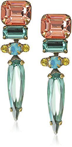 Sorrelli Spiked Drop Earrings, Antique Gold-Tone Finish, Legacy Gem Pop