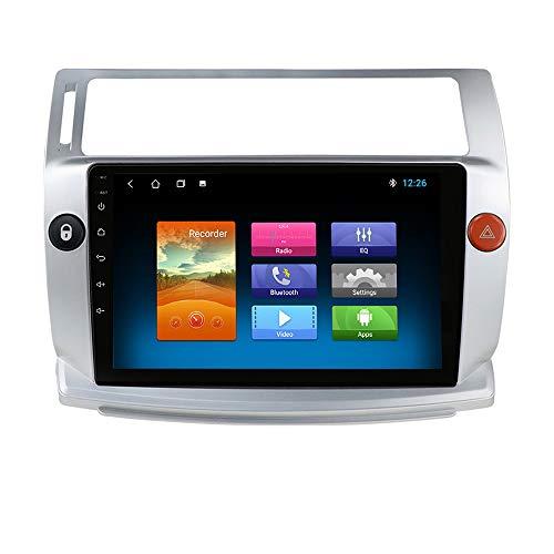 hizpo Autoradio Bluetooth Compatibile con Citroen C4 C-Triomphe C-Quatre 2004-2009 DAB Autoradio 1+16G 4G GPS Ricevitore Radio Link SpecchioTelecamera Posteriore Controllo del Volante DAB+/FM/USB/OBD2