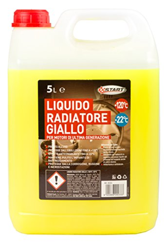START Liquido radiatore Giallo 5L -22°C per Motori monoblocco in Alluminio