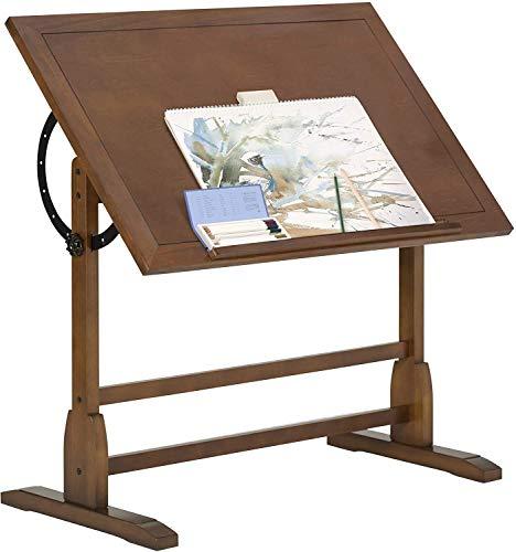 Home Vintage Zeichentisch,Top Verstellbarer Zeichentisch Basteltisch Zeichentisch Hobby Tisch Schreibtisch Studio Schreibtisch,Geeignet für Designer Malerei Werkbank