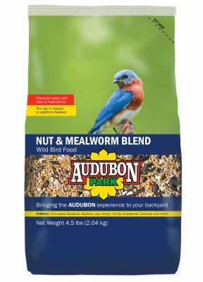 Audubon Park 13018 Nut & Mealworm Bird Food, 5-Lbs. - Quantity 1