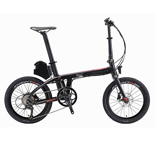 SAVANE - Bicicleta eléctrica plegable de carbono, E6 20 pulgadas, 250 W,...