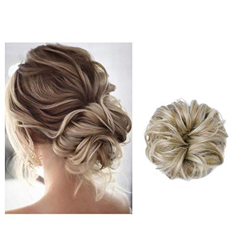 BaFaHo Messy Bun Hair Piece Thick Updo Scrunchies Hair Extensions Ponytail Hair Accessories Wavy Messy For Women.