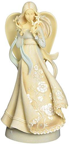 "Enesco Foundations Hope Angel Stone Resin Figurine, 9"""