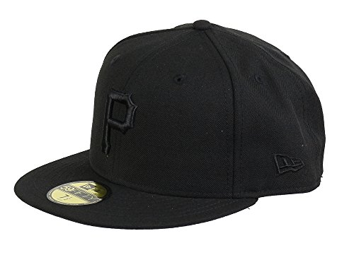 New Era Pittsburgh Pirates 59fifty Basecap Mlb Black On Black - 7 5/8 - 61cm
